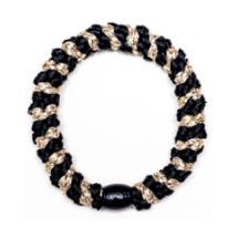 kknekki elastic- black & light gold metallic