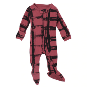 L'oved Baby Organic Zipper Jumpsuit - Appleberry Plaid