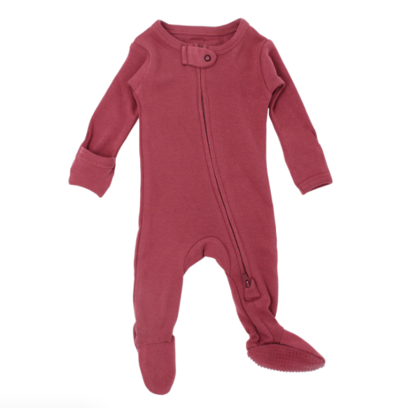 L'oved Baby Organic Zipper Jumpsuit - Appleberry