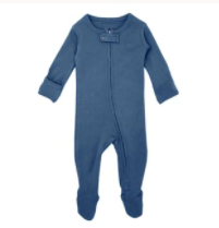 L'oved Baby Organic Zipper Jumpsuit - Abyss