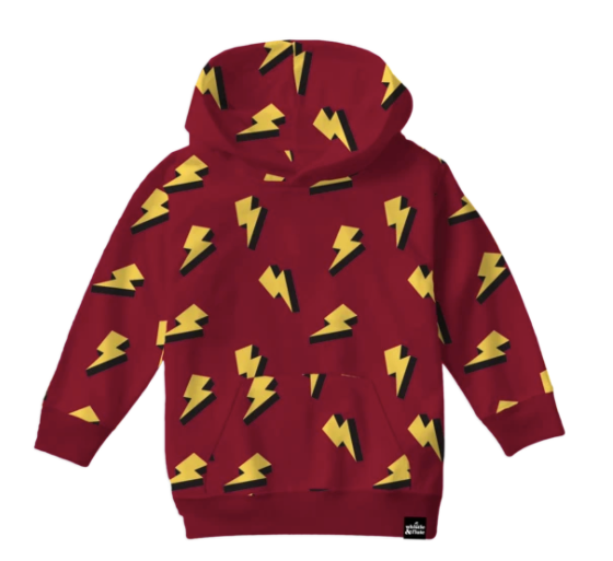 Whistle & Flute Lightning Bolt Allover Print Sweatshirt