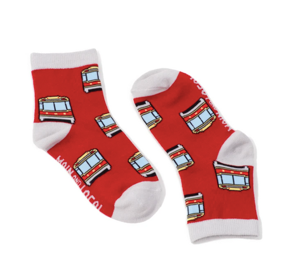 Main and Local Children's Toronto Streetcar Socks