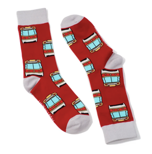 Main and Local Adult Toronto Streetcar Socks