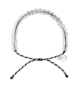 4Ocean Great White Shark Bracelet- Grey/White/Black