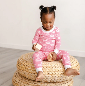 Pink Kisses 2 Piece Bamboo Pajama Set- Little Sleepies