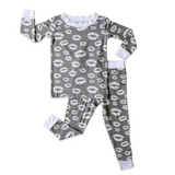 Gray Kisses 2 Piece Bamboo Pajama Set- Little Sleepies