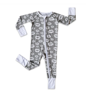 Gray Kisses Bamboo Converatible Romper
