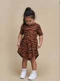 HuxBaby Tiger Swirl Dress- Tiger