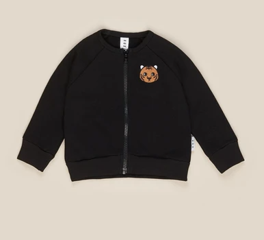 HuxBaby Tiger Sweat Jacket- Black
