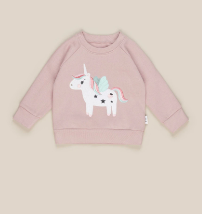 HuxBaby Unicorn SweatShirt- Blush