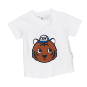 HuxBaby Tiger T-Shirt-White