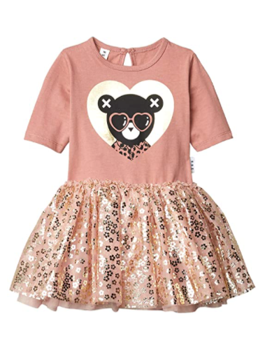HuxBaby Heart Bear Ballet Dress