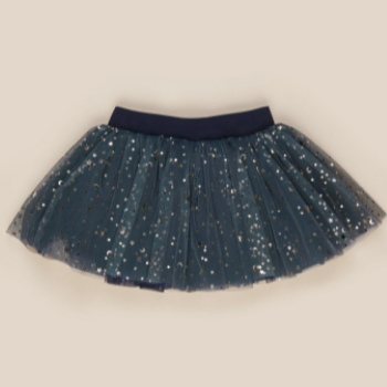 HuxBaby Gold Star Tulle Skirt- Ink