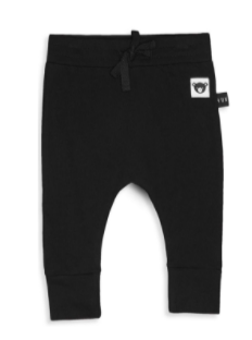 HuxBaby Black Drop Crotch Pant