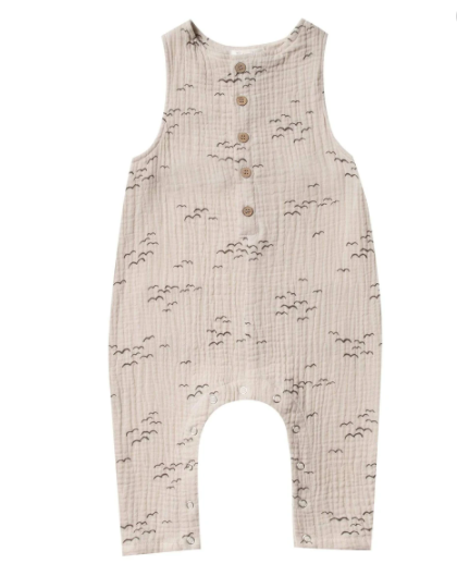 Rylee & Cru- Flock Button Jumpsuit- Natural
