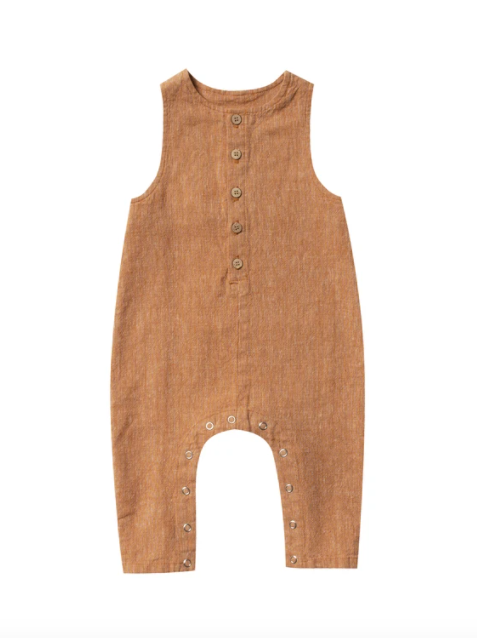 Rylee & Cru- Button Jumpsuit- Bronze