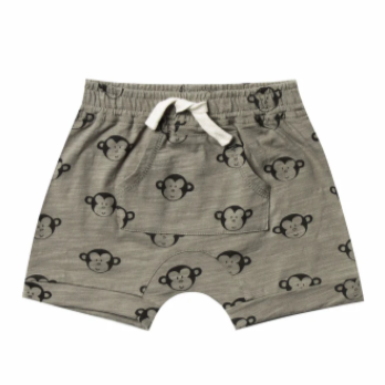 Rylee & Cru- Monkey Pouch Front Short- Deep Olive