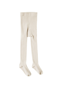 Rylee & Cru- Solid Ribbed Tights- Natural
