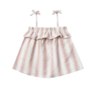 Rylee & Cru- Ruffle Tube Top- Petal Stripe
