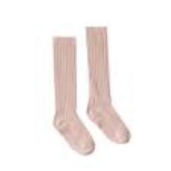 Rylee & Cru- Solid Ribbed Socks- Petal