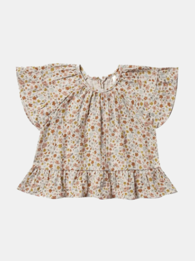 Rylee & Cru- Flower Field Butterfly Top- Natural