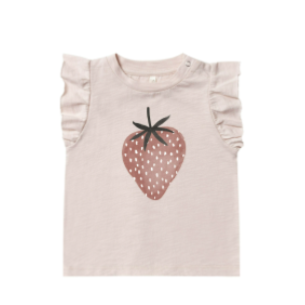 Rylee & Cru- Strawberry Ruffled Tank- Lilac