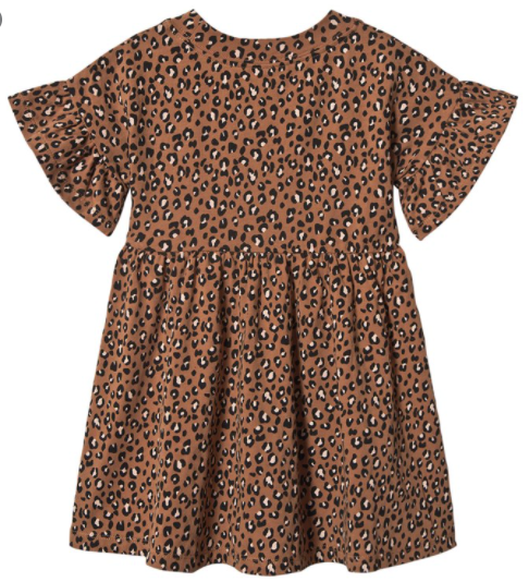 Rylee & Cru- Cheetah Babydoll Dress- Bronze