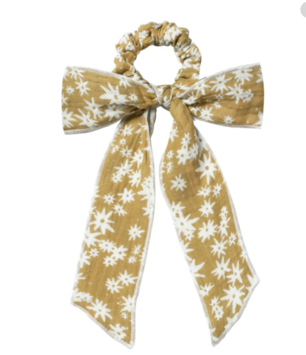 Rylee & Cru- Hair Scarf Tie Scrunchie- Scattered Daisy