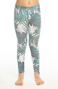 Girls Cozy Knit Classic Legging- Palm Print