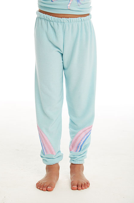 Girls Cozy Knit Lounge Pant - Waterfall