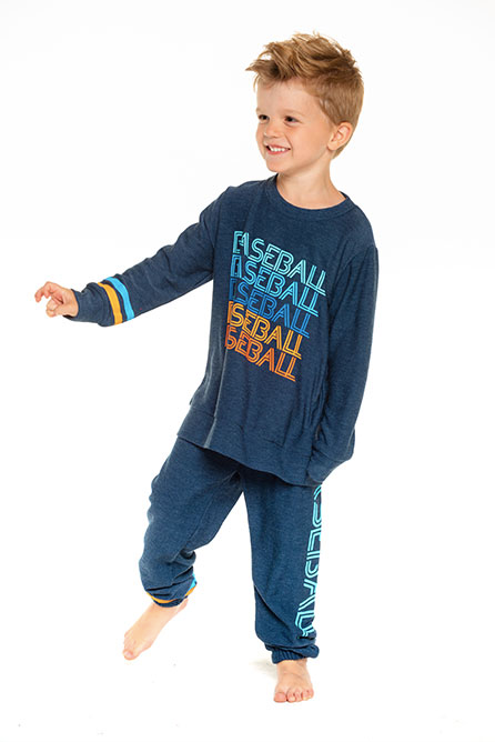Boys Cozy Knit Crew Neck Pullover Sweater- Avalon