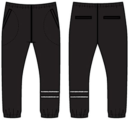 Boys Love Knit Lounge Pant with Strappings- Black & Heather Grey