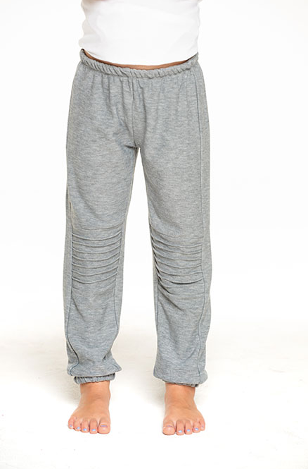 Girls Cozy Knit Slouchy Moto Jogger - Heather Grey