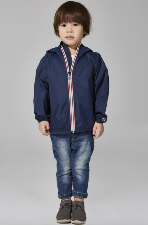 08 Lifestyle- Kids Sam Zip Front Jacket- Navy