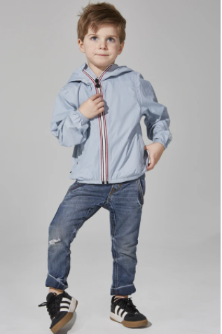 08 Lifestyle- Kids Sam Zip Front Jacket- Celestial Blue