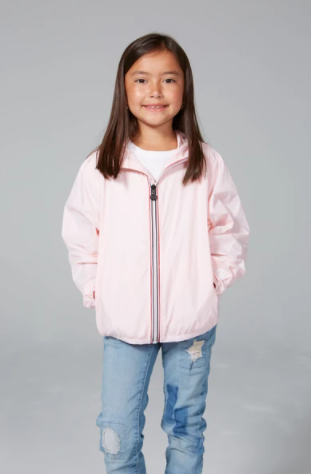 08 Lifestyle- Kids Sam Zip Front Jacket- Ballet Slipper