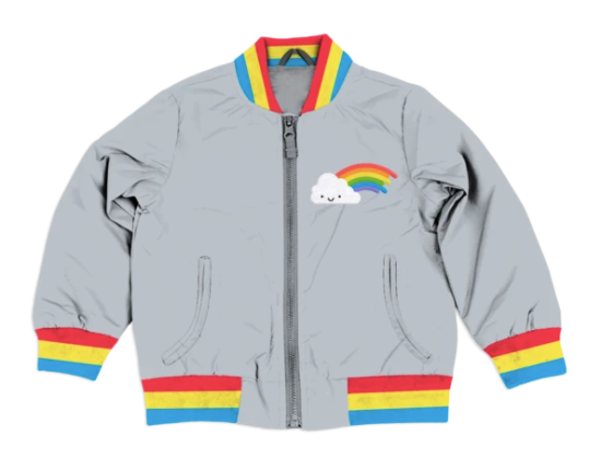 Whistle & Flute- Rainbow Bomber Jacket