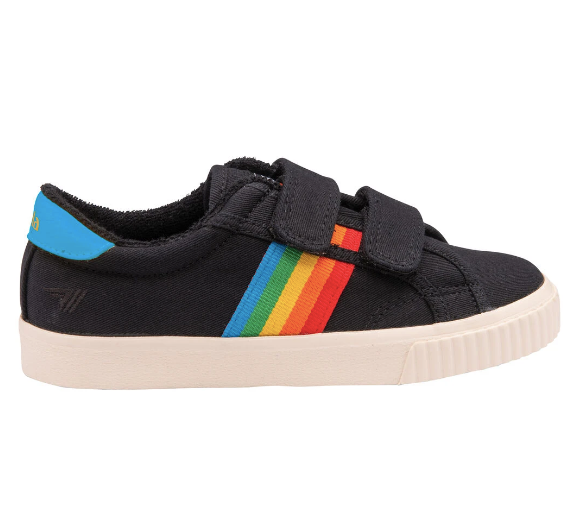 Gola Kids' Tennis Mark Cox Velcro Sneaker- Black