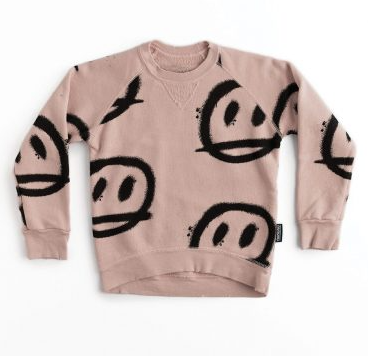 Nununu Sprayed Smiles Sweatshirt- Powder Pink