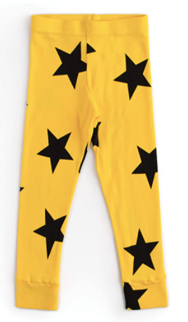 Nununu Star Leggings- Lava Yellow