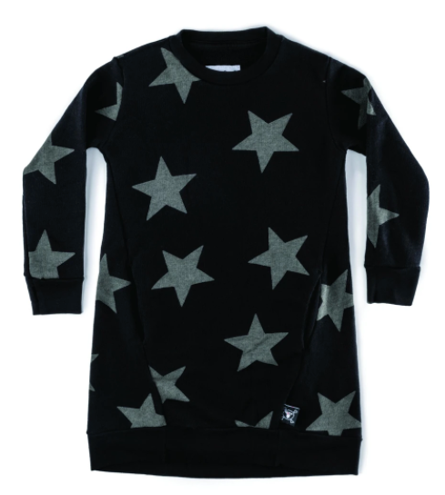 Nununu Star A Dress- Black