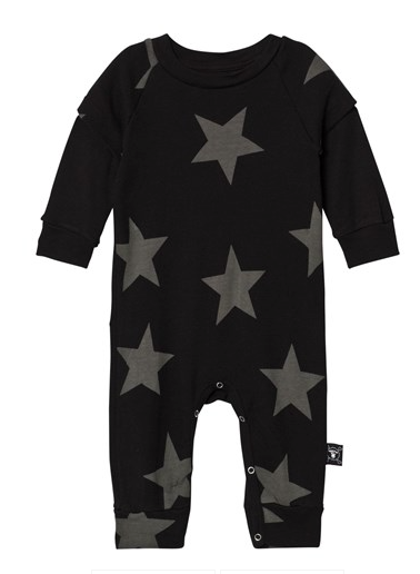 Nununu Star Playsuit- Black