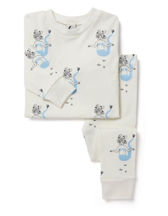 Sleepy Doe- Kids Classic PJ Set- Mermaids