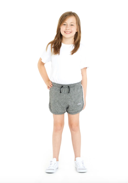 Lazy Pants Jackie Kids Retro Short- Granite