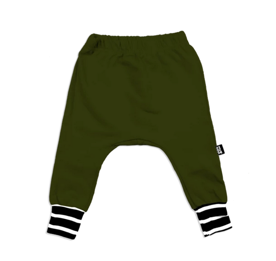 Whistle & Flute Bamboo Joggers - Olive Stripe