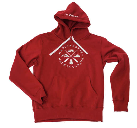 Youth Unisex Crest Hoodie Red
