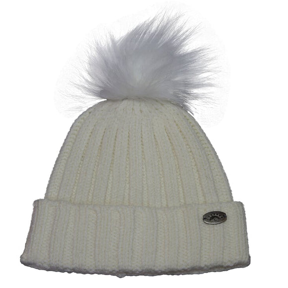 Calikids Pom Pom Hat - Available in Creme, Pink & Black