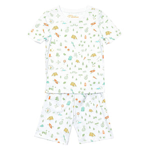 Petidoux Pyjamas- Happy Campers (Short Sleeve)