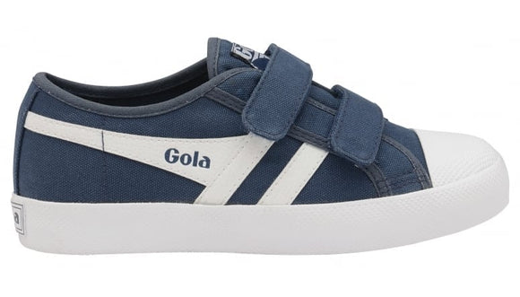 Gola Classics Kids Coaster Velcro Trainer - Baltic/White