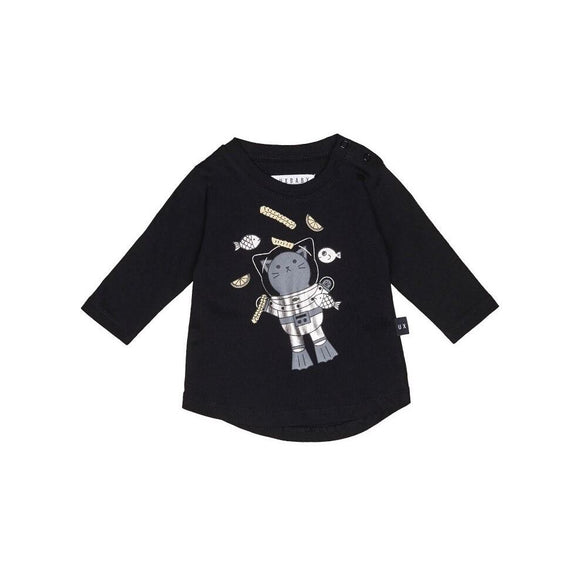 Hux Baby Chip Diver Long Sleeve Top - Black